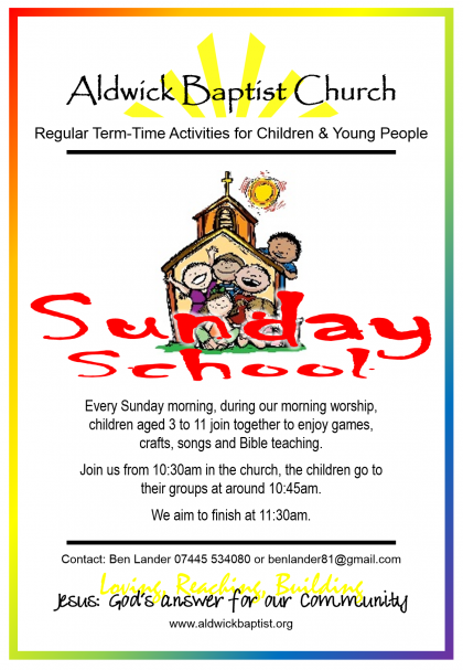 Sunday School Sept 15