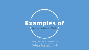 Examples of....  (February 2016)