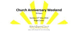 Church Anniversary 2016